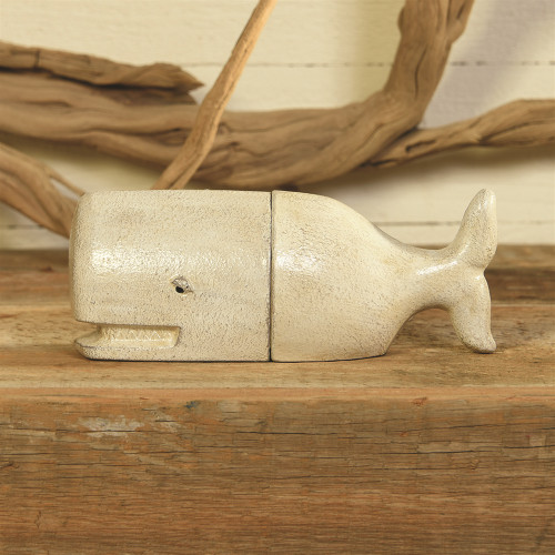 White Whale Cast Iron Bookends shelf view 2