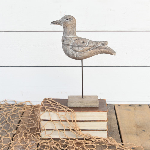 Driftwood Seagull Decor room view