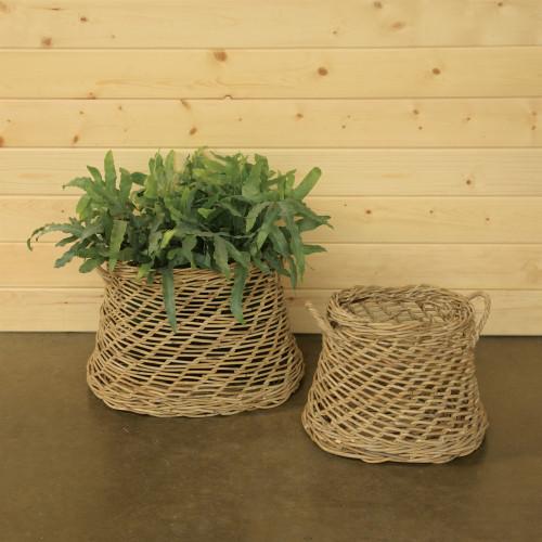 Coronado Rustique Rattan Oval Baskets - Set of Two room view