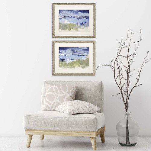 Eastern Winds Set of Two Coastal Prints room view