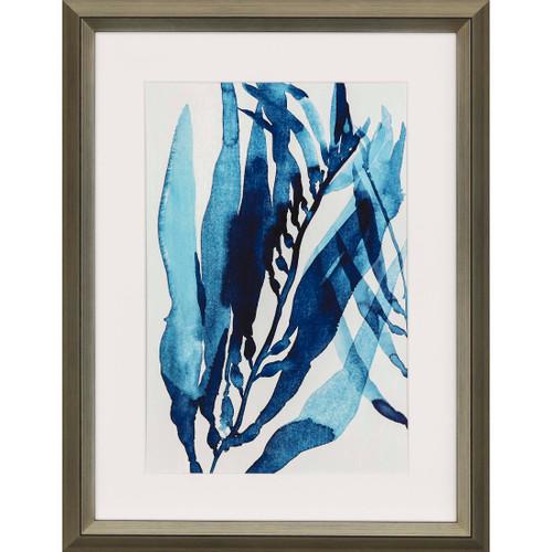 Blue Drift II Framed Giclee Art