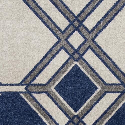 Denim Grant Lucia Indoor-Outdoor Rug close up pattern 1