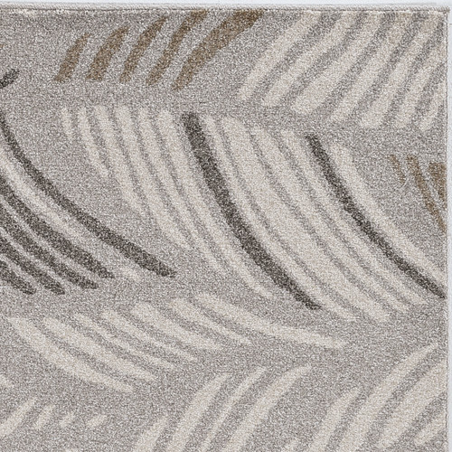 Grey Palm Folia Lucia Indoor-Outdoor Rug close up pattern 1