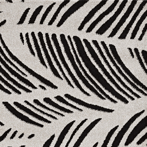 Black Palm Folia Lucia Indoor-Outdoor Rug close up