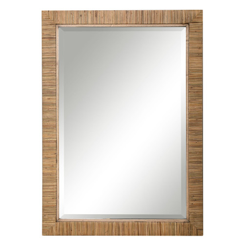 Cape Byron Rattan Wrapped Rectangle Mirror