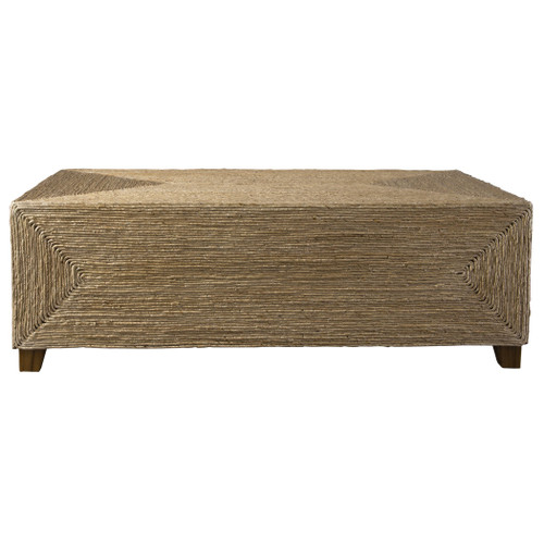 Aurora Woven Coffee Table side view