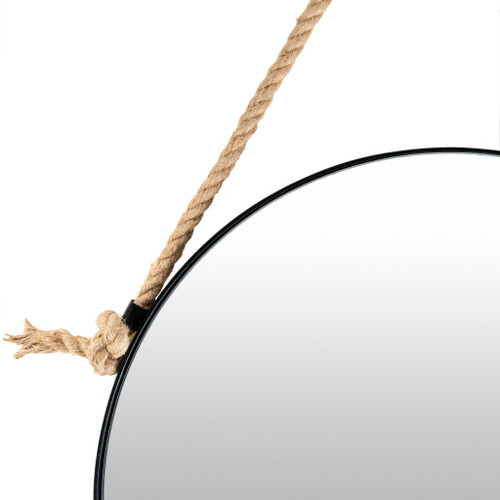Tacoma Waterfront Round Mirror-Small close up rope