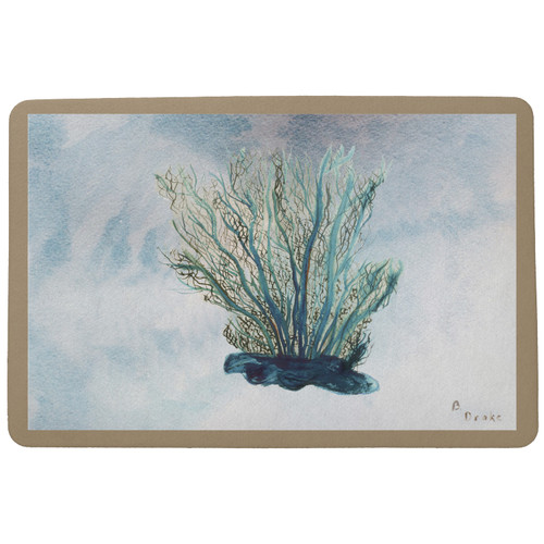 Blue Coral Floor Mat