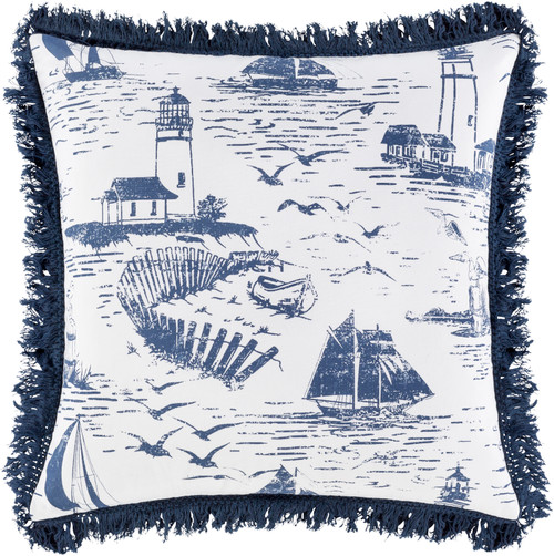 Castaway Nautical Fringed 20 x 20 Pillow