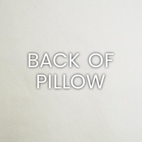 Indigo Stripes Luxury Coastal Pillow back fabric