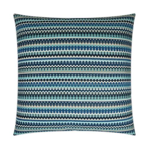 Indigo Stripes Luxury Coastal Pillow