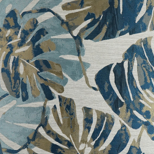 Pacific Island Dream Palm Pillow fabric close up