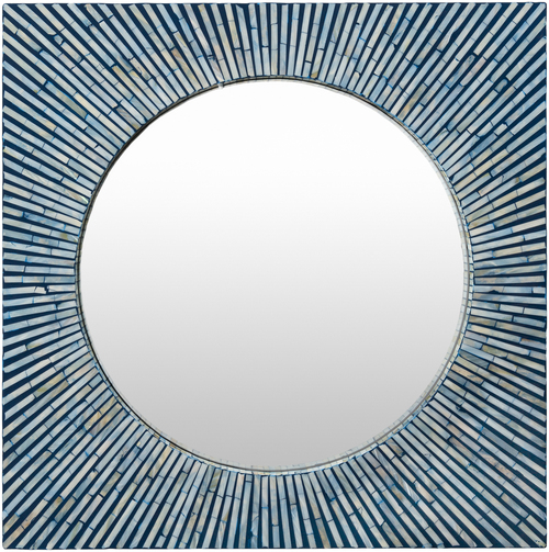 Avon Blue Sea Shell Mirror