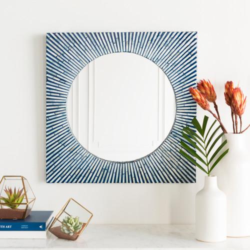 Avon Blue Sea Shell Mirror room view