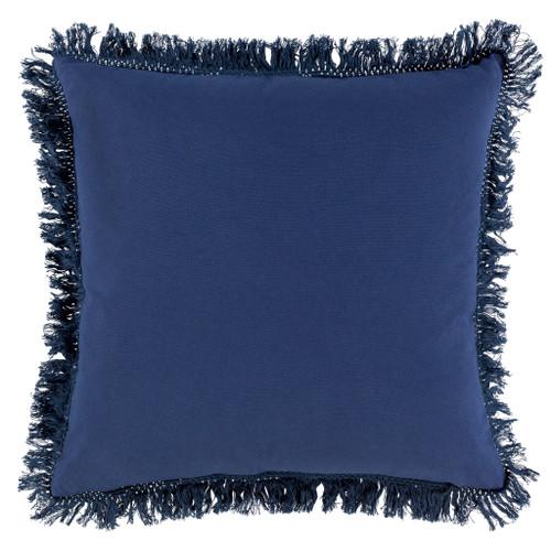 Castaway Nautical Fringed Pillow back pillow view