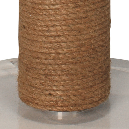 Cylinder Rope Floor Lamp Wrapped in Jute close up