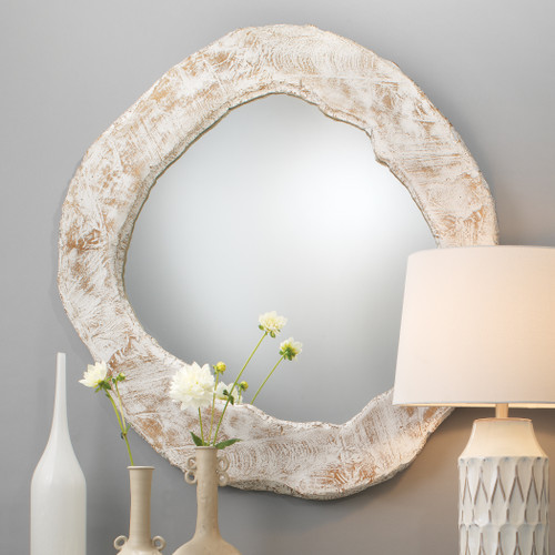 Colvos Passage Driftwood Mirror room example