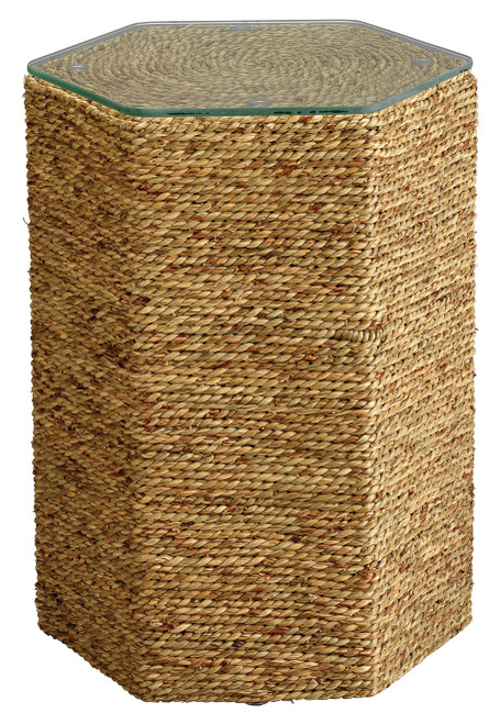 Peninsula Side Table in Natural Seagrass