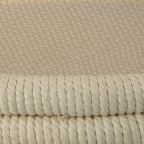 Bravo Accent Table in White Rope  close up