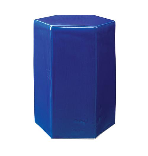 Porto Side Table in Cobalt Blue Ceramic