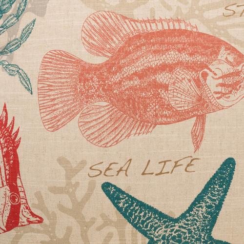 Carolina Coastal Resort Pillow close up fabric