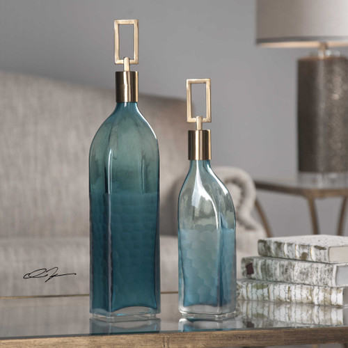 Annabelle Etched Glass Containers - Set of Two room view
