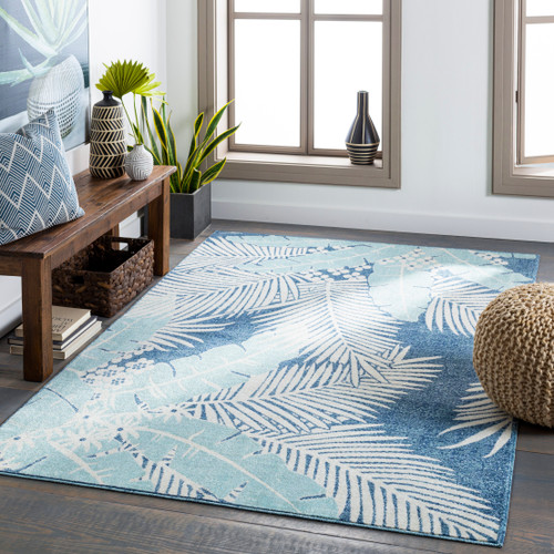 Blue Palms Bodrum Area Rug room view