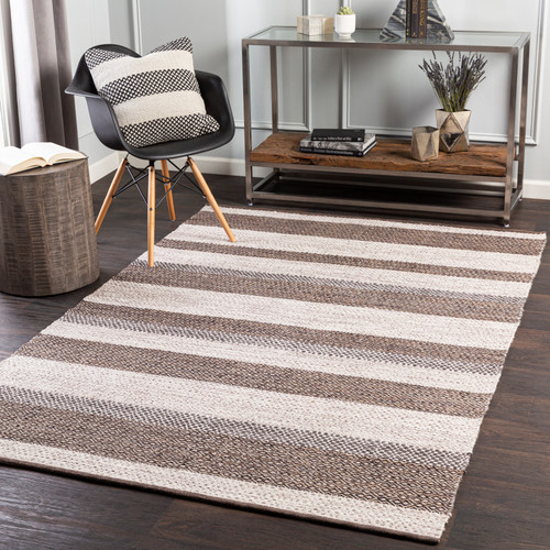 Azores Dune Striped Woven Rug room view