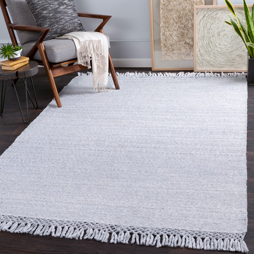 Azores Vapor Grey Braided Woven Rug room view