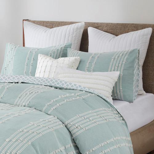 Kai Embellished Aqua Queen Comforter Set room 2