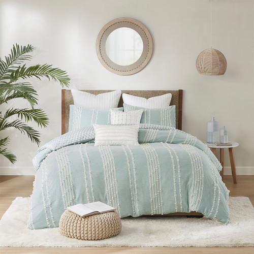 Kai Embellished Aqua Queen Comforter Set room 1