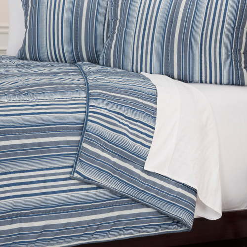 Ebb Tide Striped 3-Piece Quilted Set close up