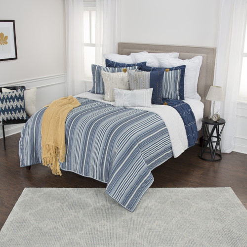 Ebb Tide Striped 3-Piece Quilted Set king size