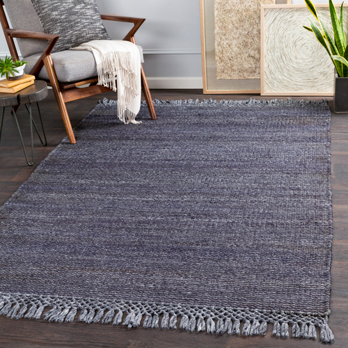 South Harbor Navy Blue Jute Area Rug room view