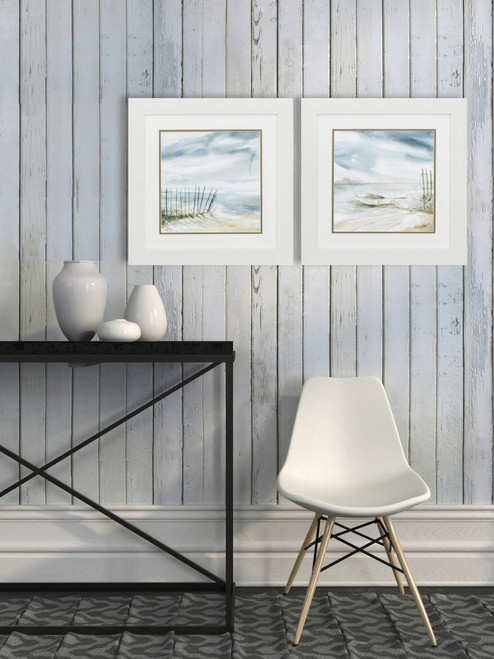 Subtle Beach Misty Scenes - Set of Two room view
