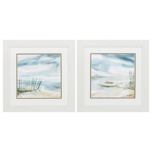 Subtle Beach Misty Scenes - Set of Two