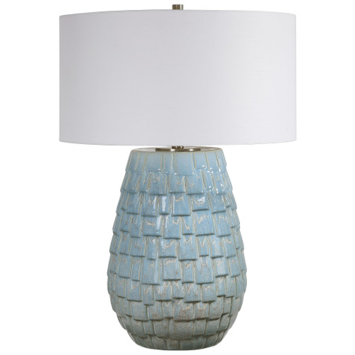 Talima Pastel Blue Table Lamp full view