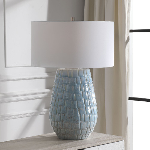 Talima Pastel Blue Table Lamp room view