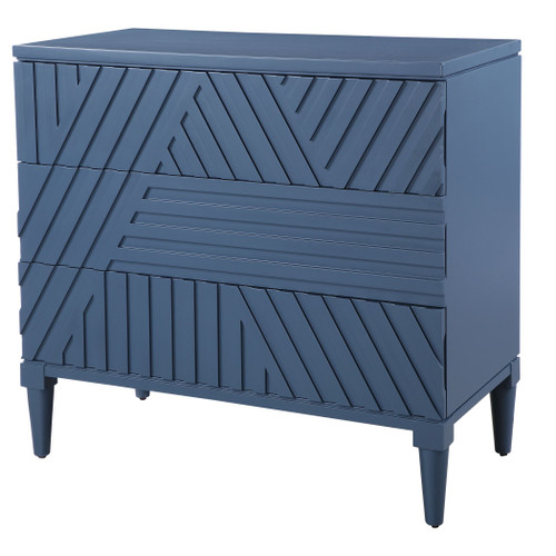 Colby Navy Blue 3-Drawer Chest
