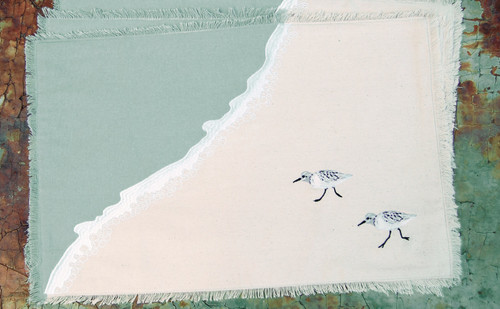 Sprinting Sand Pipers Placemats - Set of Four  table image