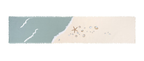 Sea Shell and Starfish Embroidered Table Runner