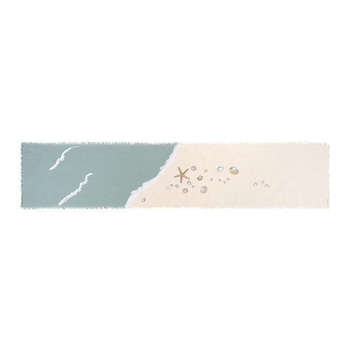 Sea Shell and Starfish Embroidered Table Runner view 2