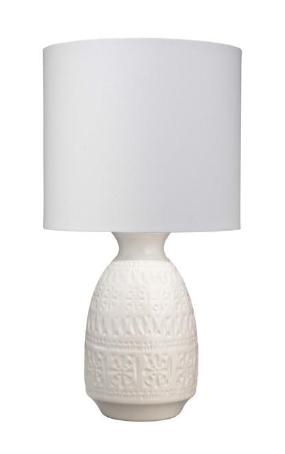 Flores Table Lamp in White Ceramic