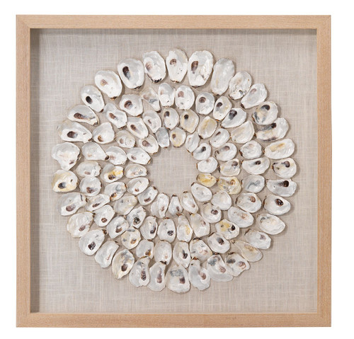 Maldives White Oyster Shells Framed Wall Art