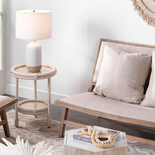 Dune Textured Ashwell Table Lamp room view