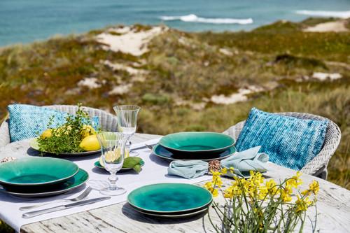 Riviera Large Oval Platter - Azur - lifestyle