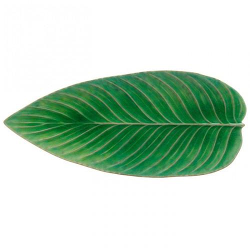 Riviera Strelizia Leaf Platter - Tomate