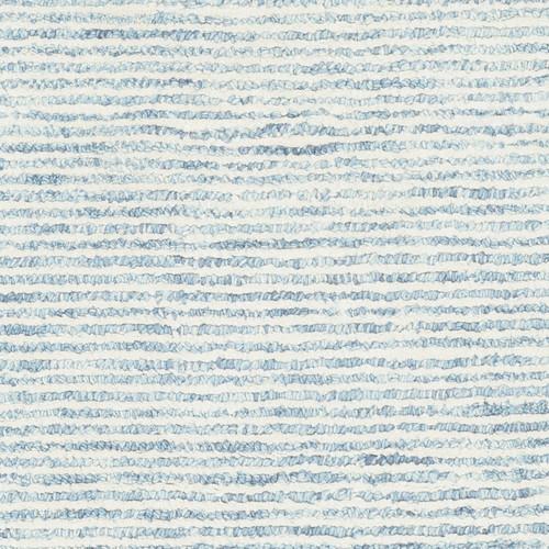 Pale Denim Strada Wool and Viscose Rug close up