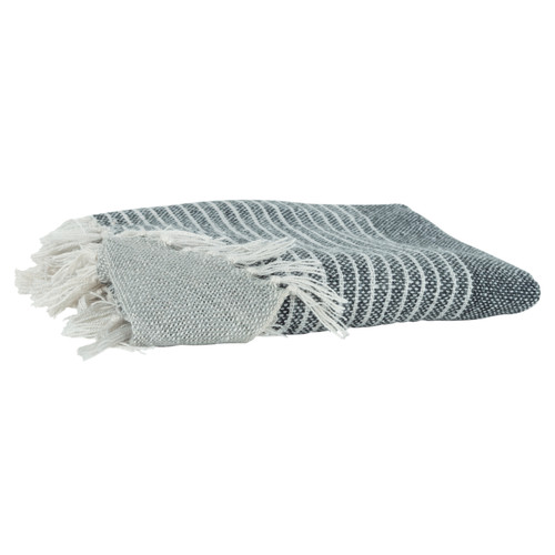 Fogbank Casual Knit Throw with Fringe main image