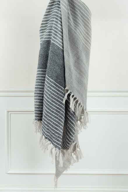 Fogbank Casual Knit Throw with Fringe